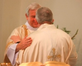 The Ordination of Nicholas StJohn to the Permanent Diaconate. Let us offer each other the sign of peace.